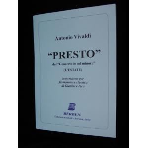 SPARTITI PER FISARMONICA 1428 ANTONIO VIVALDI PRESTO