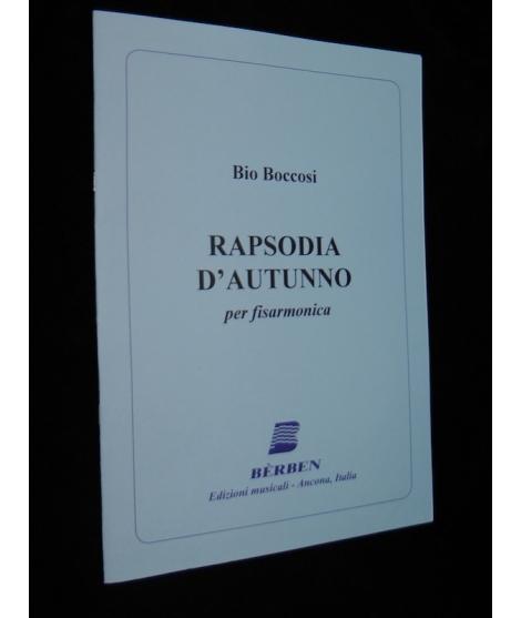 SPARTITI PER FISARMONICA 1351 BIO BOCCOSI RAPSODIA D'AUTUNNO