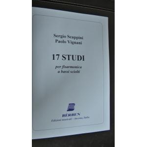 METODO METODI  PER FISARMONICA 1211 17 STUDI PER FISARMONICA A BASSI SCIOLTI SCAPPINI