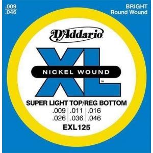 D'ADDARIO EXL125 XL NICKEL ROUND WOUND 009-046 CORDE CHITARRA ELETTRICA