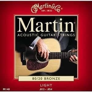 MARTIN 3 SET M140 LIGHT 012 - 054 CORDE ACUSTICA