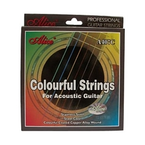 Alice A407C Colorful Acoustic Guitar String Set