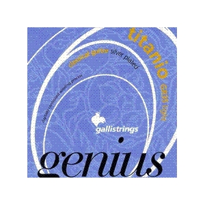 GALLI GR35 TITANIUM GENIUS CLASSICAL GUITAR STRINGS LIGHT TENSION