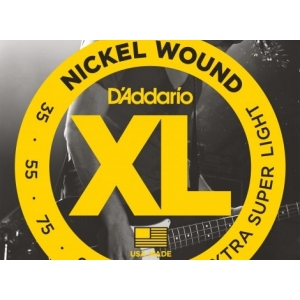 D'Addario EXL180 Nickel Wound Bass Guitar Strings, Extra Super Light, 35-95, Long Scale