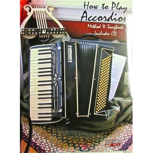 HOW TO PLAY ACCORDION METHOD SONGBOOK INCLUDED CD 1629