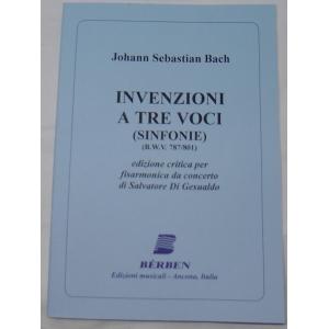 JOHANN SEBASTIAN BACH INVENZIONI A TRE VOCI