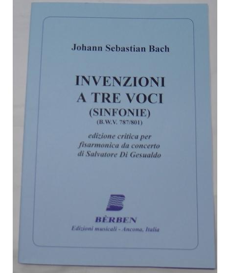 METODO METODI  PER FISARMONICA 1560 JOHANN SEBASTIAN BACH INVENZIONI A TRE VOCI