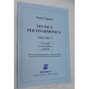 1330  PAOLO VIGNANI TECNICA PER FISARMONICA VOLUME 2°