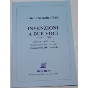 METODO METODI  PER FISARMONICA 1406 JOHANN SEBASTIAN BACH INVENZIONI A DUE VOCI