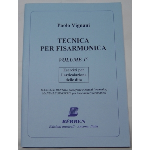 METODO METODI  PER FISARMONICA 1333 PAOLO VIGNANI-TECNICA PER FISARMONICA-VOLUME 1°