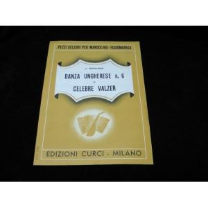 SPARTITI PER FISARMONICA 1116 J.BRAHMS DANZA UNGHERESE N.6