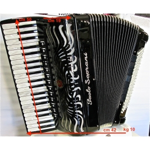 Paolo Soprani SUPER PAOLO 41/120/4 piccolo NUOVO ACCORDION FISARMONICHE Fisarmonica GARANZIA 5 ANNI SPEDIZIONE GRATUITA