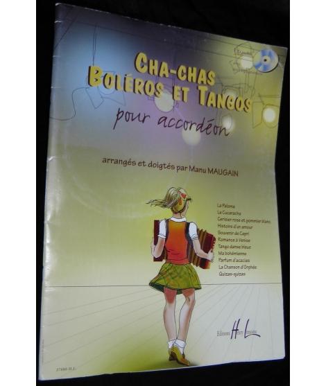 SPARTITI PER FISARMONICA 657 CHA-CHAS BOLEROS ET TANGOS POUR ACCORDEON
