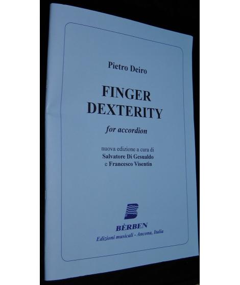 SPARTITI PER FISARMONICA 837 PIETRO DEIRO FINGER DEXTERITY FOR ACCORDION