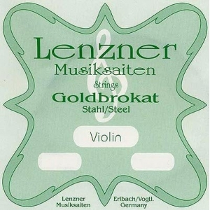 Lenzner Goldbrokat Violin  e 0,26 ball end