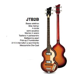 JTB-2B BASSO SEMI ACUSTICO JAY TURSER HOFNER V-BASS STYLE