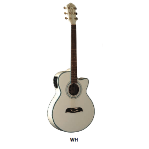 OG-10CE WH CH. ACUSTIC.AMPL.4/4OS BY WASHBURN WHITE