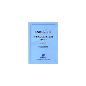 Andersen - 18 piccoli studi 0p 41 per flauto gazzelloni  berben 34