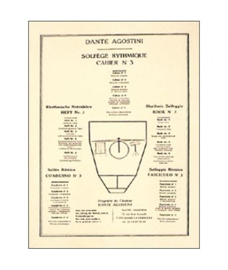Solfège rythmique - Cahier N° 3 agostini -751
