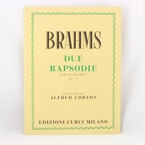 Brahms Op 79 - 2 Rapsodie Per Piano (Cortot) curci 294