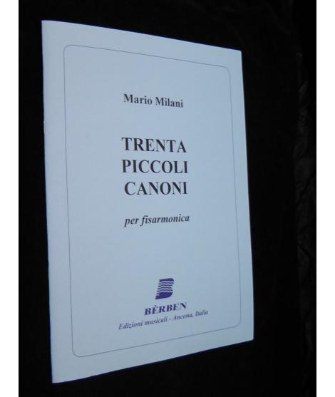 MARIO MILANI TRENTA PICCOLI CANONI PER FISARMONICA