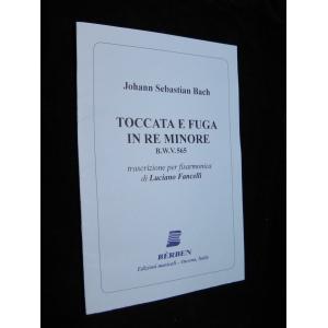 SPARTITI PER FISARMONICA 475 JOHANN SEBASTIAN BACH TOCCATA E FUGA IN RE MINORE