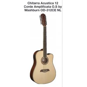 CHITARRA ACUSTICA 12 CORDE AMPLIFICATA O.S BY WASHBURN OD-312CE NL