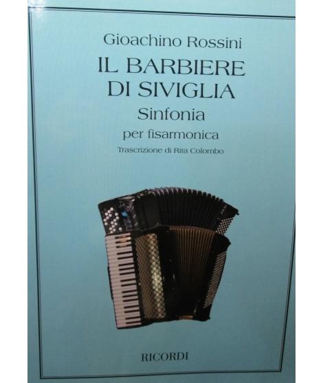 SPARTITI PER FISARMONICA 986 G.ROSSINI IL BARBIERE DI SIVIGLIA