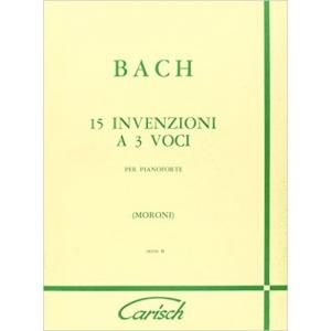 Johann Sebastian Bach: 15 Invenzioni a 3 Voci, per Pianoforte