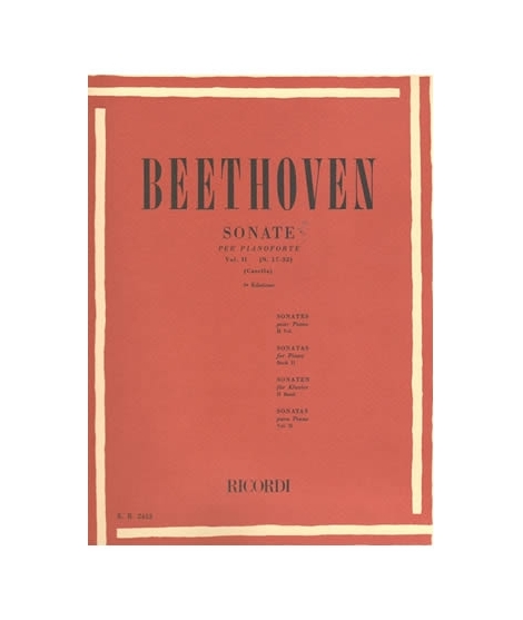 RICORDI Beethoven - 32 Sonate - Vol. 2 (N. 17-32)