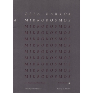 Béla Bartok MIKROKOSMOS 153 Progressive Piano Pieces Volume 4 -