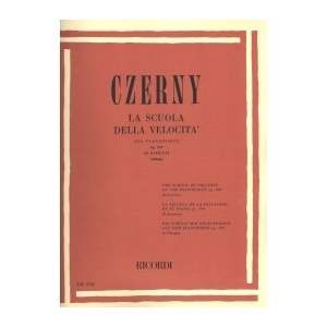 CZERNY - LA SCUOLA DELLA VELOCITA' SUL PIANOFORTE OP.299