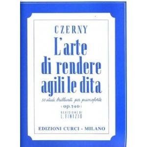 Czerny - L'arte di rendere agili le dita OP. 740 L. Finizio - Edizione Curci  rif.136