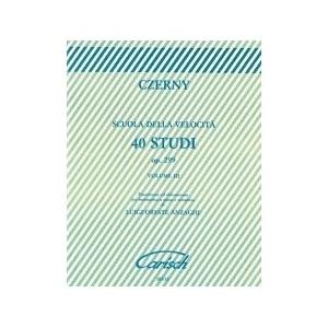 Czerny Scuola della Velocità 40 Studi Op. 299 Volume III rif 1285