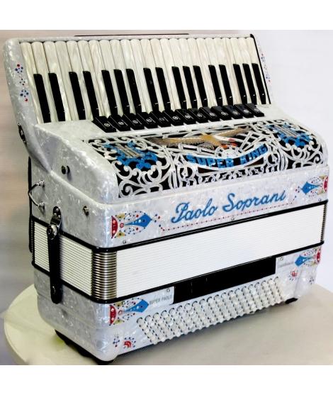 Paolo Soprani SUPER PAOLO 120 MUSETTE NUOVO ACCORDION FISARMONICHE Fisarmonica GARANZIA 5 ANNI