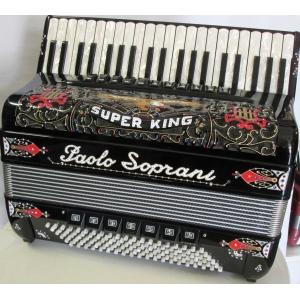 Paolo Soprani SUPER KING 120 cassotto NUOVO ACCORDION FISARMONICHE Fisarmonica GARANZIA 5 ANNI