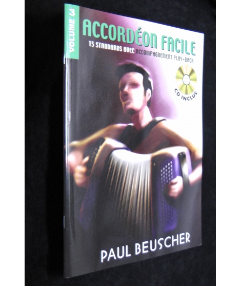 SPARTITI PER FISARMONICA 1108 ACCORDEON FACILE VOLUME 3 PAUL BEUSCHER