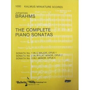 JOHANNES BRAHMS THE COMPLETE PIANO SONATAS