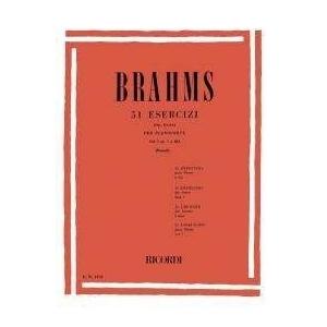 Brahms 51 Esercizi per pianoforte Vol.1 Ricordi