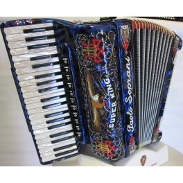 Paolo Soprani SUPER KING 120 MUSETTE NUOVO ACCORDION FISARMONICHE Fisarmonica GARANZIA 5 ANNI