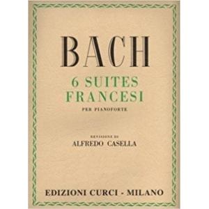 Bach 6 Suites Francesi per Pianoforte revisione di A. Casella Edizioni Curci