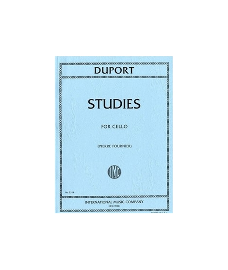 JEAN-LOUIS DUPORT: TWENTY-ONE STUDIES FOR CELLO