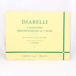 Carisch Diabelli 6 Sonatine Nell'estensione Di 5 Note op.163 per piano a quattre
