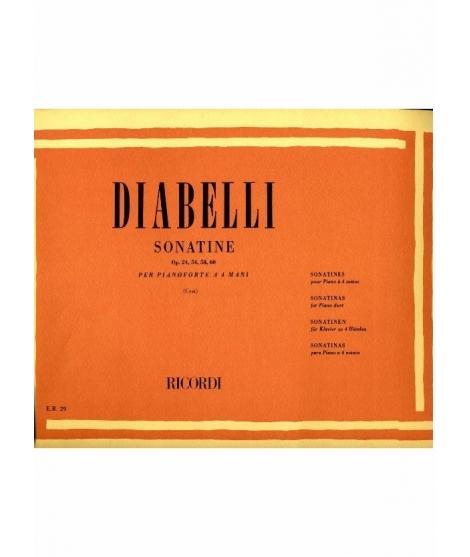 DIABELLI : SONATINE OP.24,54,58,60 PER PIANOFORTE A 4 MANI RICORDI