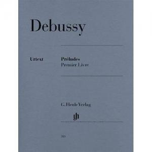 DEBUSSY C.: PRÉLUDES PREMIER LIVRE - PRELUDI VOL. 1 HENLE VERLAG DEBUSSY CLAUDE