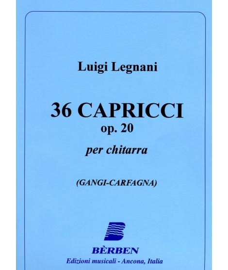 LEGNANI Note 36 Capricci Op.20 Chitarra/Guitar/Gitarre/Guitarra