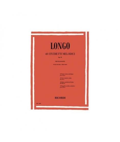 Longo – 40 studietti melodici op 43