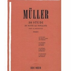 Ivan Muller: 30 Studies In All Tonalities For Clarinet. For Clarinetto