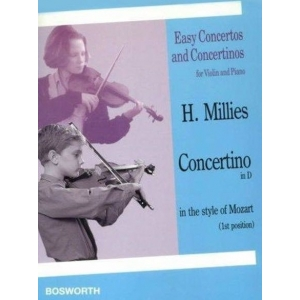 Millies, Hans - Concertino in D Major for Violin and Piano in the Style of Mozart - Bosworth