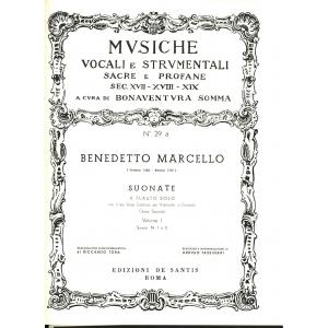 MARCELLO(Tassinari)Suonate Sonate N:1 a 6 Vol.Iº Flauto,Violoncello o Cembalo